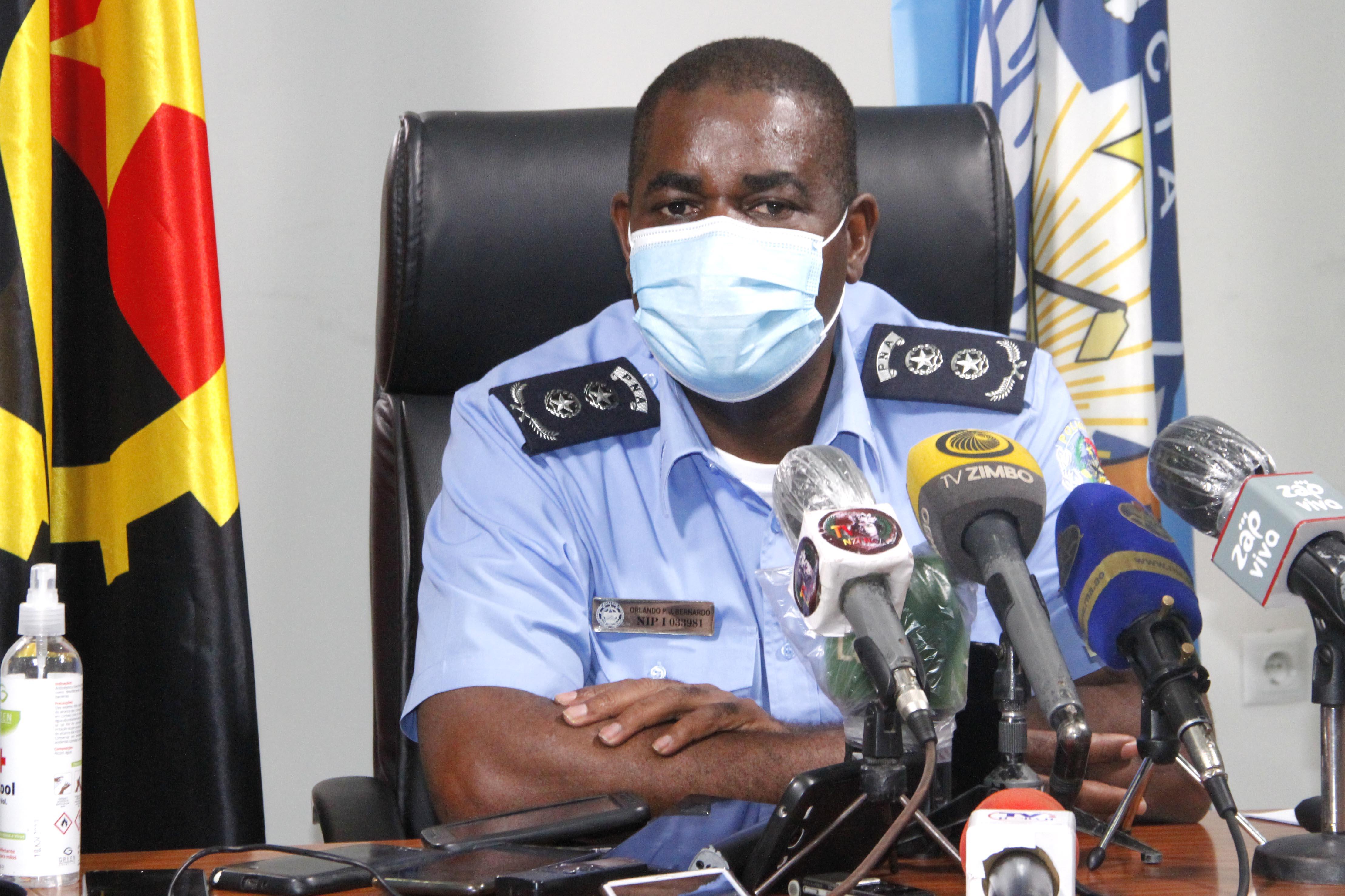 Director das Operações e Segurança Pública da Polícia Nacional, comissário Orlando Bernardo